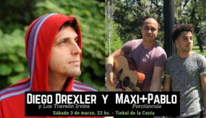 Diego Drexler y Maxi+Pablo Porciúncula