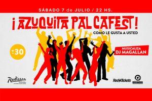 """¡Azuquita pal caFest!es la excusa perfecta para divertirse bailando los clásicos de la época de esa gran canción popularizada en Uruguay por """"Conjunto Casino"""" y muchas más."""